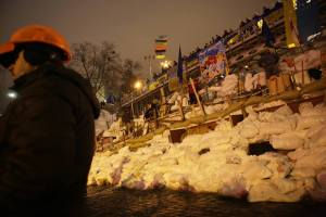 Snowy barricade